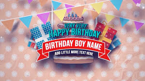 free happy birthday template after effects template free happy birthday slideshow youtube