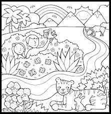 Creation Story Coloring Pages At Getdrawingscom Free For Personal
