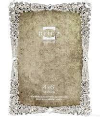 silver antique picture frames. AMELIA Antique Silver Metallic 4x6 Frame W/Crystal + Pearl Jewels By Prinz® Picture Frames S