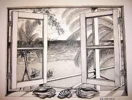 window drawing. Modren Window Landscape Drawing  The Window View By Ralph Blankenship For E