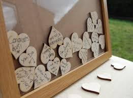 Wooden Heart Picture Frame Guest Book