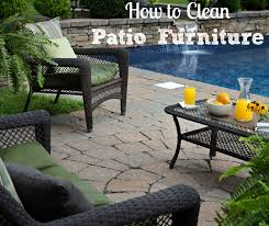 how to clean outdoor patio furniture