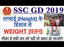 Ssc Gd Weight And Height Ratio Age Wise For Physical And Medical Crpf Cisf Bsf Ssc_gd