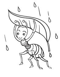 Small Picture Free Ant Coloring Page