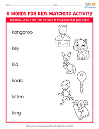 words that start with k for kids