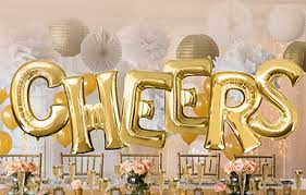 quad small bridal shower balloons