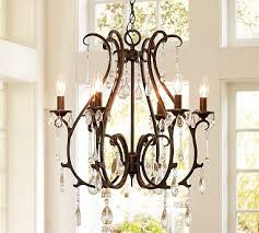here s the pottery barn chandelier and here is my knock off