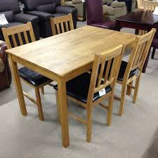 moor solid oak dining table with 4 chairs