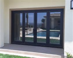 steel glass doors. Folding (4) Pool Doors. As Shown: 12\u0027-0 X 8\u0027-0 Solar Cool Glass, Copper Hand-Patina. Steel Glass Doors
