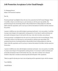 Job Promotion Acceptance Letter
