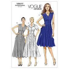 Vogue Dress Patterns Adorable Vogue Misses' Dress Pattern V48 Size BB48 Discount Designer