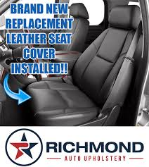 2009 2016 chevy avalanche ltz leather seat cover driver bottom black perforated