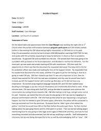 Police Reports Examples Sample Format Of Incident Report Form Examples Writing An Letter