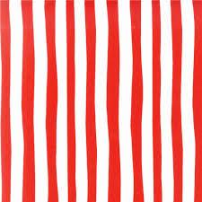 Squiggle Stripe Red/White - Discount Designer Fabric - Fabric.com