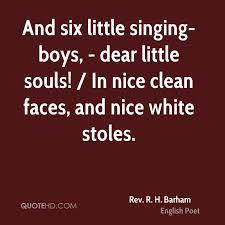 Little Boy Quotes Mesmerizing Rev R H Barham Quotes QuoteHD