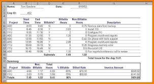 Billable Hours Timesheet 6 Billable Hours Template Sample Travel Bill