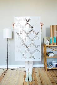 moroccan double large wall stencil