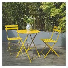 seat yellow metal folding bistro table