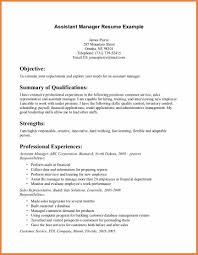 Resume Objective Assistant Property Manager Down Town Ken More