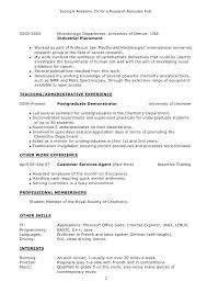 Basic Resume Example Magnificent Sample Academic Resume Academic Template Sample Resume Sample Resume