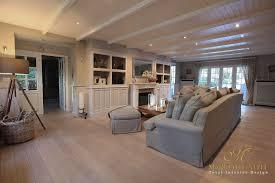 Woonkamer Cottage Stijl Mooie Eetkamer Interieur Decoratie Modern