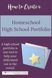 how to create a homeschool high school portfolio