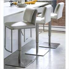 incredible white leather bar stools with backs hang out stylishly and sitting comfortably on upholstered adjustable height backless stool