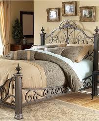 Metal Bedroom Furniture Manchester Gilded Slate King Bed Metal Bed Frame Beds