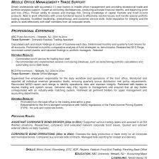 Sales And Trading Resume Resume Work Template