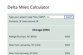 The Only Delta Skymiles Award Chart