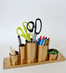 gold pencil holder diy