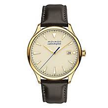 movado watches ladies men s movado designer watches ernest jones movado heritage men s gold plated strap watch product number 5961815