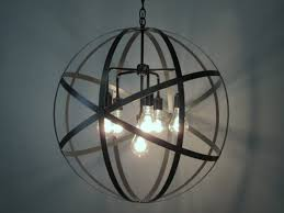 iron orb lights ideas foucaults smoke crystal chandelier inch large pendant light restoration hardware knock off