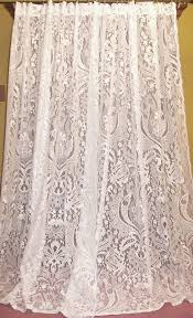 vintage victorian chic french country cottage net fl lace ds curtains pr lacecurtains