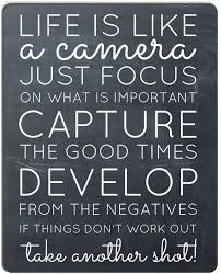 Amazon.com : Wknoon Inspirational Quotes on The Chalkboard Art Mouse Pad -  Life is Like A Camera Motivational Quote About Life Mouse Pads : Office  Products