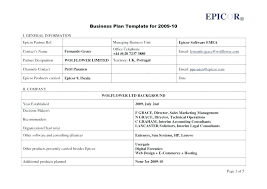 A Simple Business Plan Template Simple Small Business Plan Template Financial Free Download