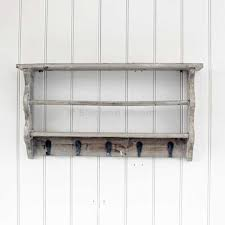 grey washed shelf hooks rack hover to zoom here for a bigger picture wooden wall