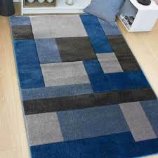 details about modern cosmos blue grey hand carved geometric rugs textured pile 80x150cm
