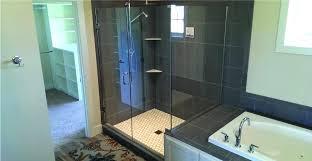 shower curtain vs glass door shower curtains vs shower glass doors pictures of shower curtains over