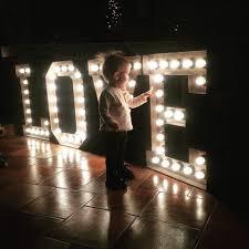 Big Letters With Lights 3ft 2ft 40 Inches Large Letter Lights Big Wedding Love Sign