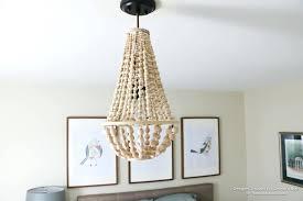 diy beaded chandelier tutorial how to make a wood bead chandelier regarding stylish household wood bead