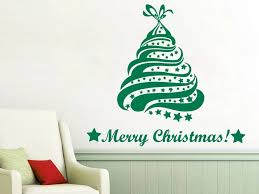 Wall Decals <b>Merry</b> Christmas Christmas Tree Decal Vinyl Sticker ...