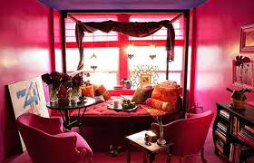 pink home office. office decor pink with very eclectic home