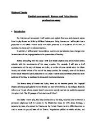 romeo and juliet theatre production essay gcse english marked   william shakespeare · romeo and juliet page 1 zoom in