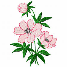 Single Peony Flower Embroidery Design For Machine Embroidery In - Home machine embroidery designs
