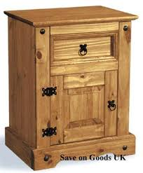 mexican pine bedside cabinet with