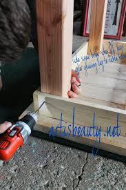 attach legs of farmhouse table