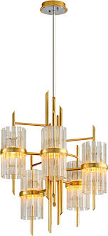 corbett 257 05 symphony contemporary gold leaf lighting chandelier loading zoom
