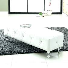 Fur Bed Bench White End Of Benches Full Size Indoor Wooden Bedroom