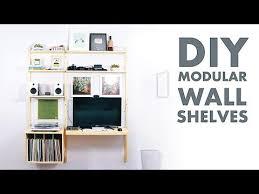 diy modern wall shelf desk metal and plywood modern builds you